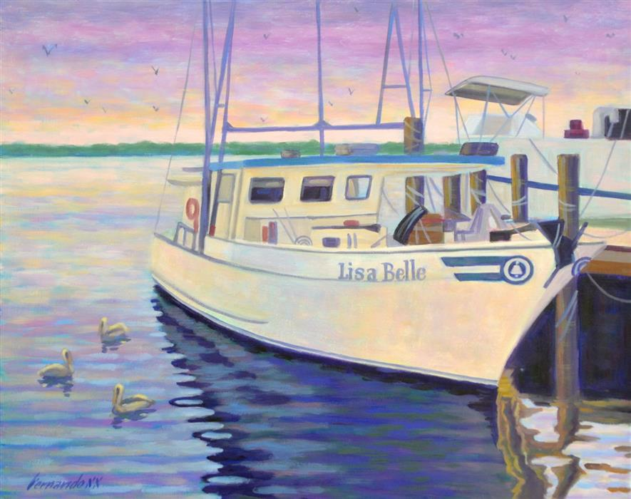 Original art for sale at UGallery.com | Lisa Belle by Fernando Soler | $625 | oil painting | 16' h x 20' w | ..\art\oil-painting-Lisa-Belle