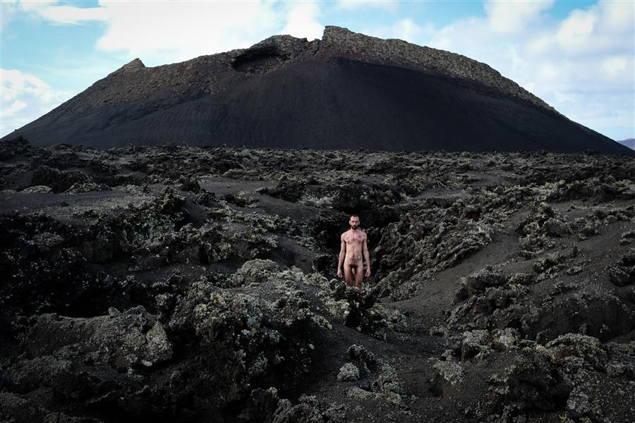 Original art for sale at UGallery.com | The Man of the Volcano by Luca Gaetano Pira | $150 | photography | 15' h x 10' w | ..\art\photography-The-Man-of-the-Volcano