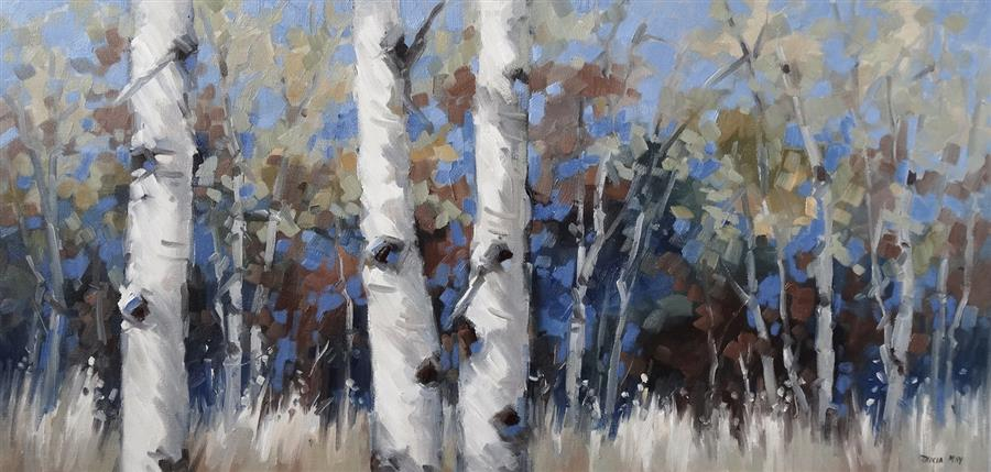Original art for sale at UGallery.com | Un-Forgettable by Tricia May | $2,075 | oil painting | 18' h x 36' w | ..\art\oil-painting-Un-Forgettable