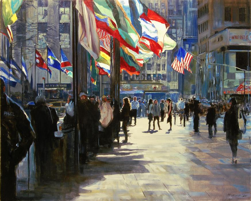 Original art for sale at UGallery.com   Diversity by Onelio Marrero   $1,375   oil painting   24' h x 30' w   ..\art\oil-painting-Diversity-67894