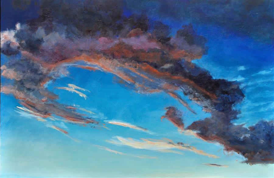 Original art for sale at UGallery.com | Sky Music by Benjamin  Thomas | $3,100 | acrylic painting | 32' h x 48' w | ..\art\acrylic-painting-Sky-Music