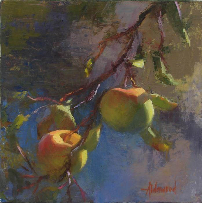 Original art for sale at UGallery.com | Apples in Sunlight by Sherri Aldawood | $475 | oil painting | 10' h x 10' w | ..\art\oil-painting-Apples-in-Sunlight