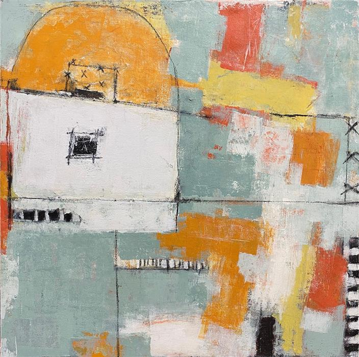 Original art for sale at UGallery.com | Carriage House by Shellie Garber | $650 | mixed media artwork | 20' h x 20' w | ..\art\mixed-media-artwork-Carriage-House