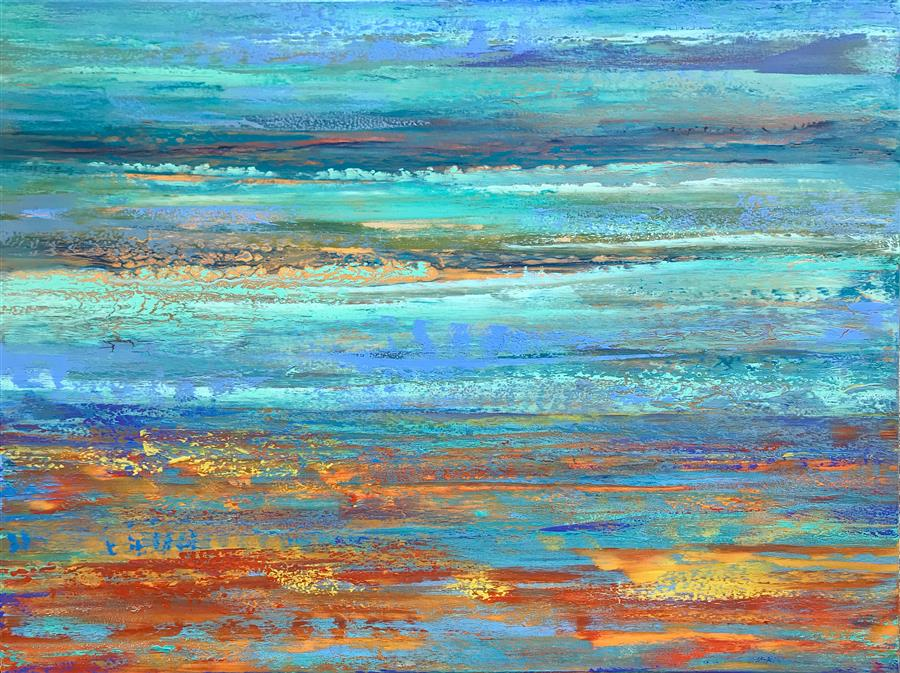 Original art for sale at UGallery.com | Summer Breeze by Alicia Dunn | $2,200 | acrylic painting | 36' h x 48' w | ..\art\acrylic-painting-Summer-Breeze-67964