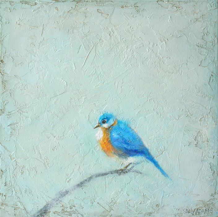 Original art for sale at UGallery.com | Bluebird by Sally Adams | $375 | acrylic painting | 12' h x 12' w | ..\art\acrylic-painting-Bluebird-67968