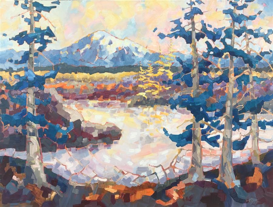 Original art for sale at UGallery.com | Mt Baker II by Teresa Smith | $3,075 | oil painting | 30' h x 40' w | ..\art\oil-painting-Mt-Baker-II