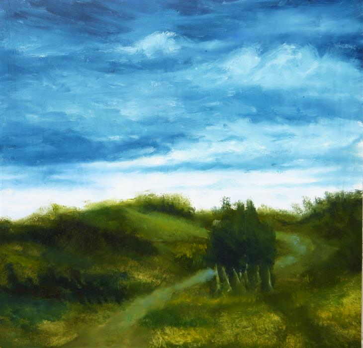 Original art for sale at UGallery.com | Overcast Day by Mitchell Freifeld | $250 | oil painting | 24' h x 24' w | ..\art\oil-painting-Overcast-Day