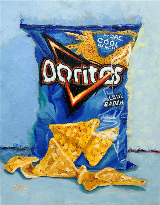 Original art for sale at UGallery.com | Irresistible Ranch Doritos by Karen Barton | $650 | oil painting | 14' h x 11' w | ..\art\oil-painting-Irresistible-Ranch-Doritos
