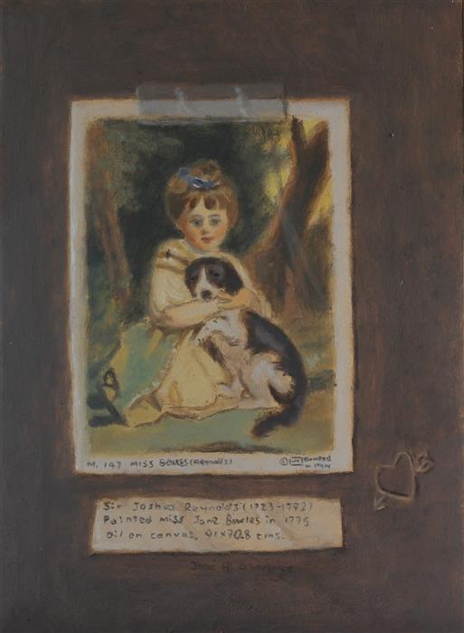 Original art for sale at UGallery.com | Love Me, Love My Dog by Jose H. Alvarenga | $375 | oil painting | 7' h x 5' w | ..\art\oil-painting-Love-Me-Love-My-Dog
