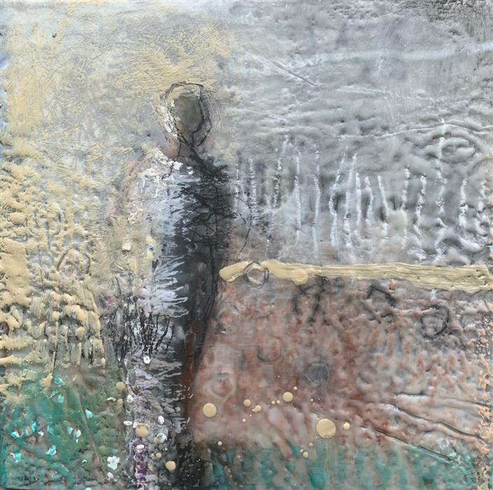 Original art for sale at UGallery.com | Hopeful by Gena Brodie Robbins | $525 | encaustic artwork | 12' h x 12' w | ..\art\encaustic-artwork-Hopeful