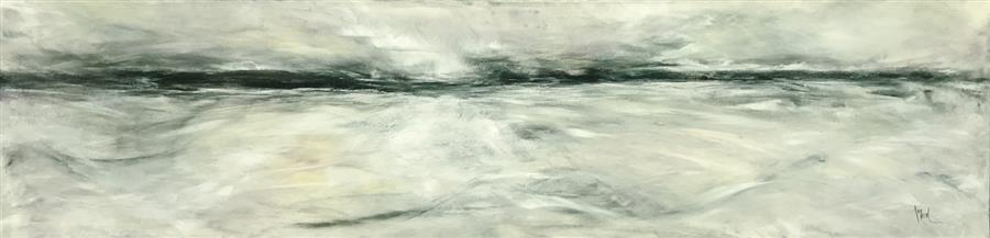 Original art for sale at UGallery.com | Endless Horizon II by Mandy Main | $1,450 | mixed media artwork | 12' h x 48' w | ..\art\mixed-media-artwork-Endless-Horizon-II