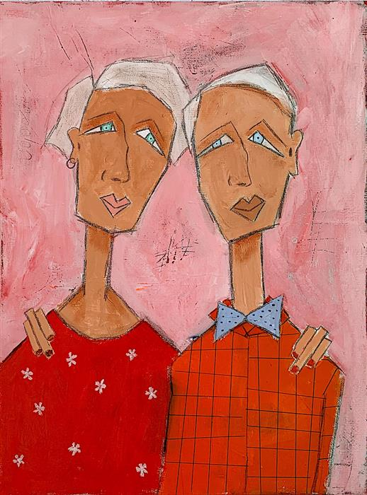 Original art for sale at UGallery.com | Scenes of a Marriage Part 1 by Rick Hamilton | $825 | acrylic painting | 24' h x 18' w | ..\art\acrylic-painting-Scenes-of-a-Marriage-Part-1