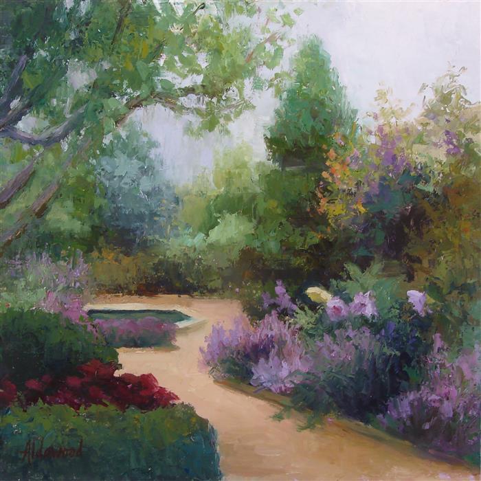 Original art for sale at UGallery.com | Violet Sky by Sherri Aldawood | $525 | oil painting | 12' h x 12' w | ..\art\oil-painting-Violet-Sky-68124