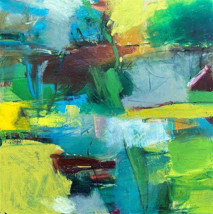 Original art for sale at UGallery.com | Saint by Scott Hunter | $3,500 | oil painting | 36' h x 36' w | ..\art\oil-painting-Saint
