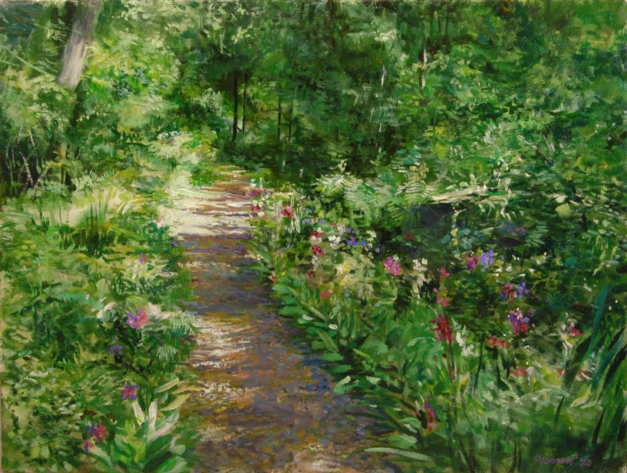 Original art for sale at UGallery.com   The Path that Winds by Onelio Marrero   $1,025   oil painting   18' h x 24' w   ..\art\oil-painting-The-Path-that-Winds