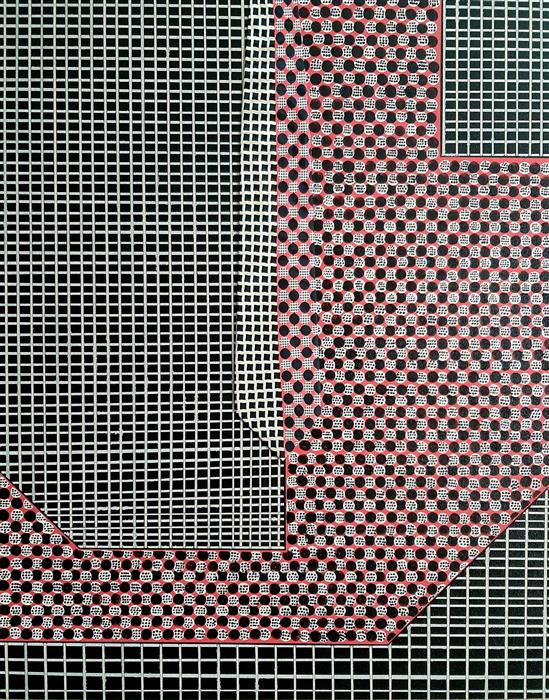 Original art for sale at UGallery.com | Lavish Grid by Gregory Brown | $1,375 | mixed media artwork | 30' h x 24' w | ..\art\mixed-media-artwork-Lavish-Grid