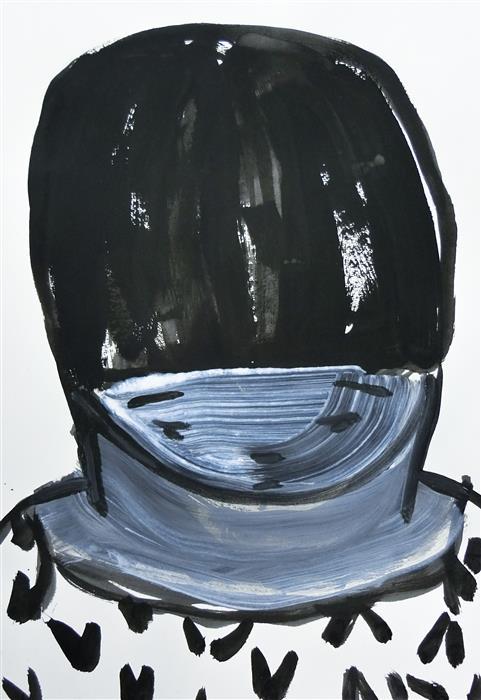 Original art for sale at UGallery.com | Meditative X_05 by Zihan Liang | $350 | mixed media artwork | 15' h x 10' w | ..\art\mixed-media-artwork-Meditative-X_05