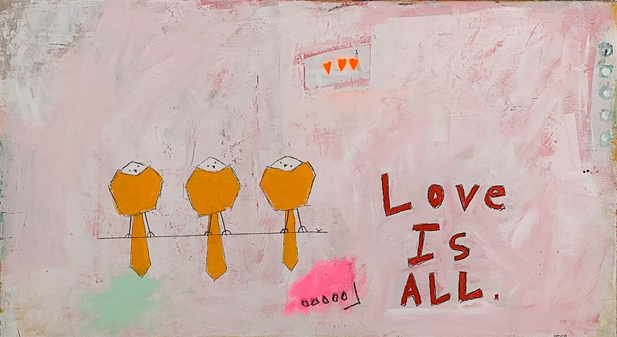 Original art for sale at UGallery.com | Love Is All by Rick Hamilton | $1,250 | acrylic painting | 20' h x 36' w | ..\art\acrylic-painting-Love-Is-All-68191