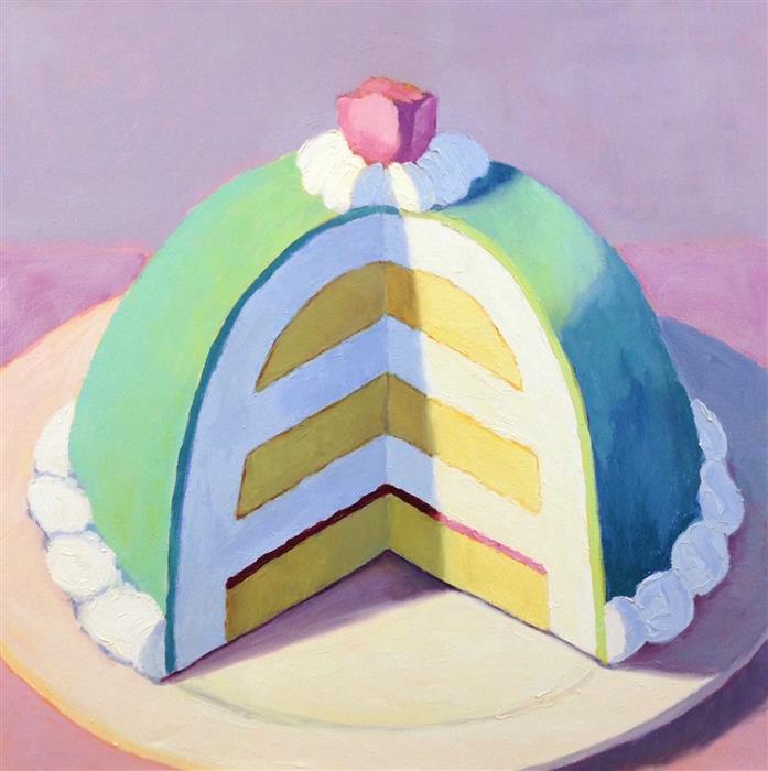 Original art for sale at UGallery.com | Princess Cake by Pat Doherty | $1,900 | oil painting | 30' h x 30' w | ..\art\oil-painting-Princess-Cake