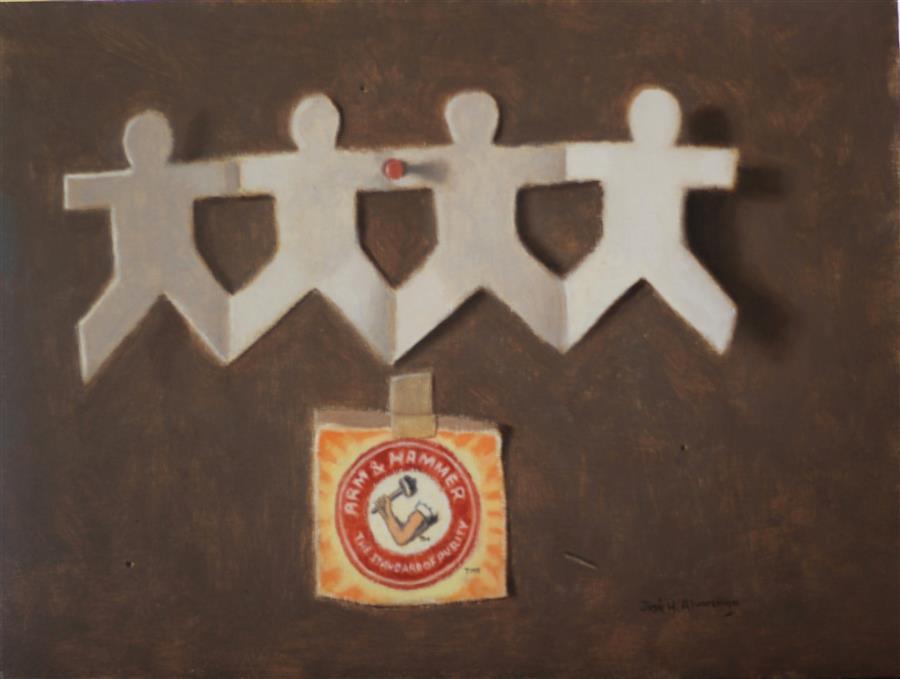 Original art for sale at UGallery.com | Unity Makes Strength by Jose H. Alvarenga | $600 | oil painting | 9' h x 12' w | ..\art\oil-painting-Unity-Makes-Strength
