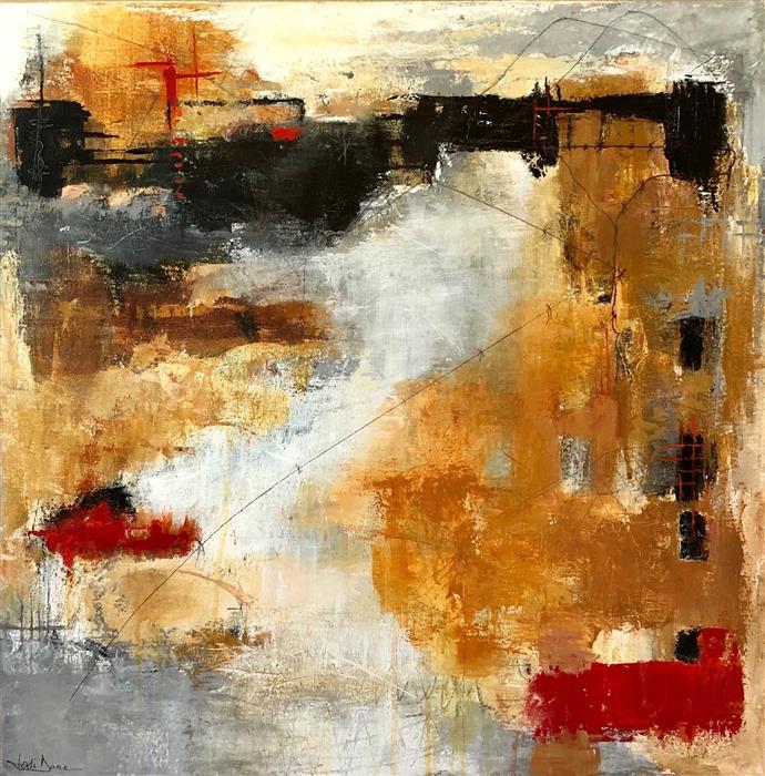 Original art for sale at UGallery.com | Abandoned by Jodi  Dann | $850 | mixed media artwork | 24' h x 24' w | ..\art\mixed-media-artwork-Abandoned