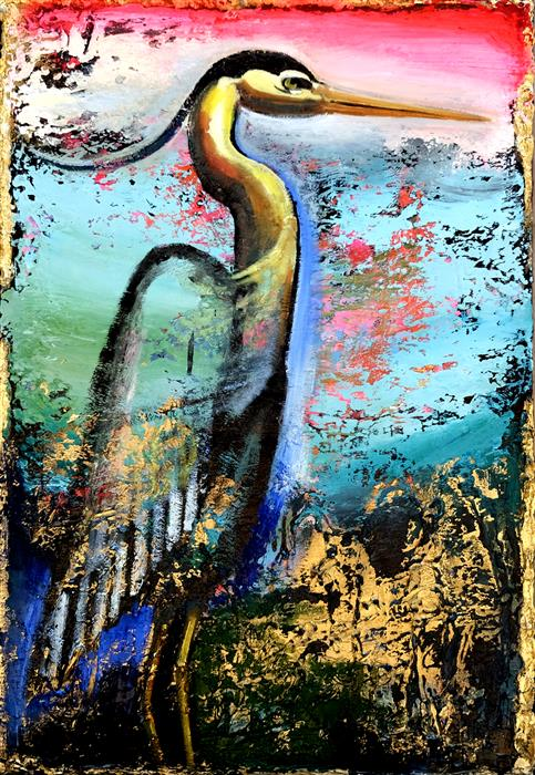 Original art for sale at UGallery.com | Large and Lovely by Scott Dykema | $2,300 | mixed media artwork | 36' h x 24' w | ..\art\mixed-media-artwork-Large-and-Lovely