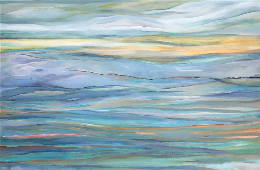 Original art for sale at UGallery.com | Take a Breath by Alicia Dunn | $3,575 | acrylic painting | 40' h x 60' w | ..\art\acrylic-painting-Take-a-Breath