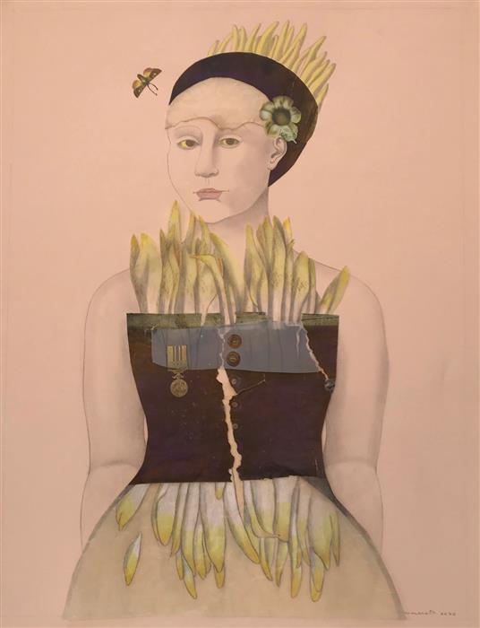 Original art for sale at UGallery.com | Girosol by Kathleen Cammarata | $875 | drawing artwork | 26' h x 20' w | ..\art\drawing-artwork-Girosol