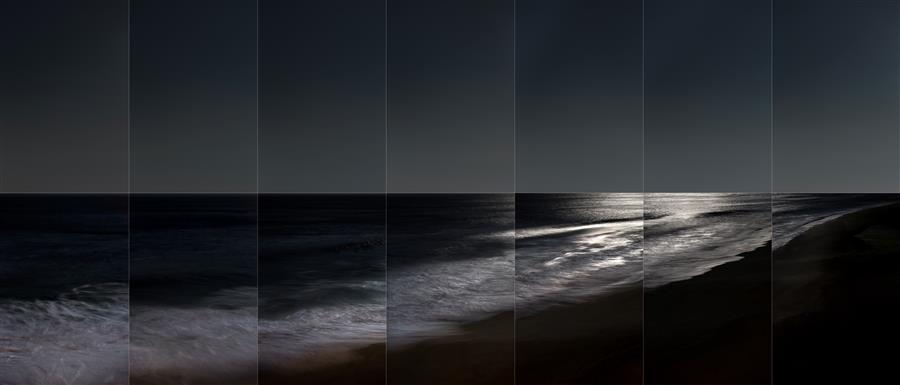 Original art for sale at UGallery.com | La Luna, Moonset by Martha Ketterer | $25 | photography | 36' h x 17' w | ..\art\photography-La-Luna-Moonset