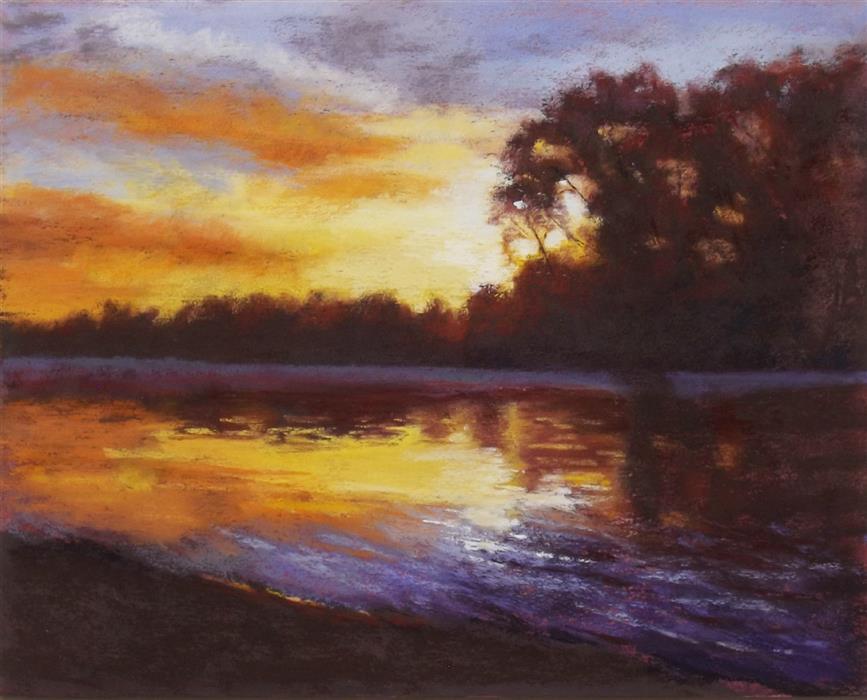 Original art for sale at UGallery.com | Quiet Drama by Patricia Prendergast | $275 | pastel artwork | 8' h x 10' w | ..\art\pastel-artwork-Quiet-Drama