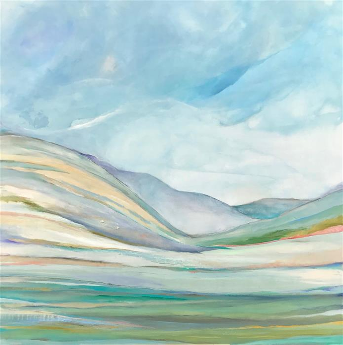 Original art for sale at UGallery.com | Distant Daydreams by Alicia Dunn | $3,125 | acrylic painting | 48' h x 48' w | ..\art\acrylic-painting-Distant-Daydreams