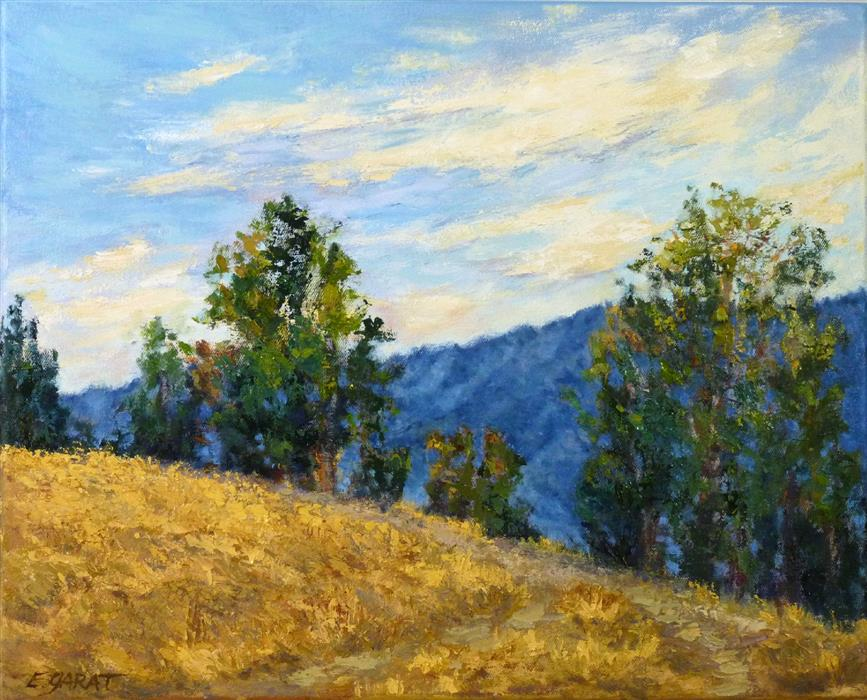 Original art for sale at UGallery.com | Santa Ana Gold by Elizabeth Garat | $800 | oil painting | 16' h x 20' w | ..\art\oil-painting-Santa-Ana-Gold
