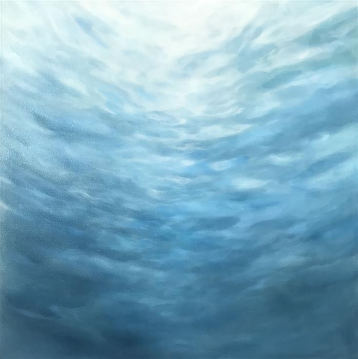 Original art for sale at UGallery.com | Gently Ascending by Laura Browning | $1,800 | oil painting | 30' h x 30' w | ..\art\oil-painting-Gently-Ascending