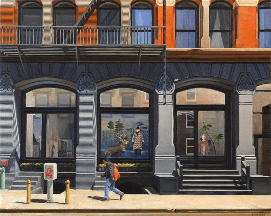 Original art for sale at UGallery.com | On Howard Street by Nick Savides | $2,100 | oil painting | 16' h x 20' w | ..\art\oil-painting-On-Howard-Street
