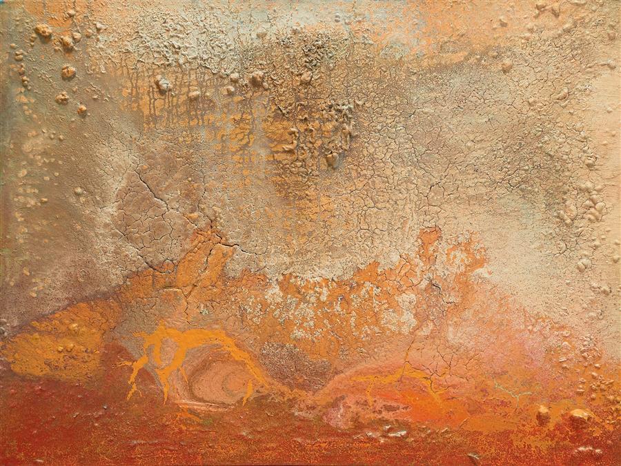 Original art for sale at UGallery.com | Huellas Nomadas by Fernando Bosch | $6,250 | mixed media artwork | 38.1' h x 51.1' w | ..\art\mixed-media-artwork-Huellas-Nomadas