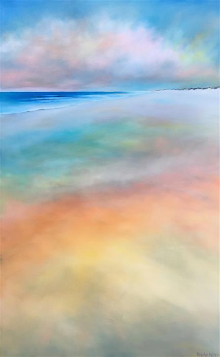 Original art for sale at UGallery.com | Colors in the Sand by Nancy Hughes Miller | $2,700 | oil painting | 48' h x 30' w | ..\art\oil-painting-Colors-in-the-Sand