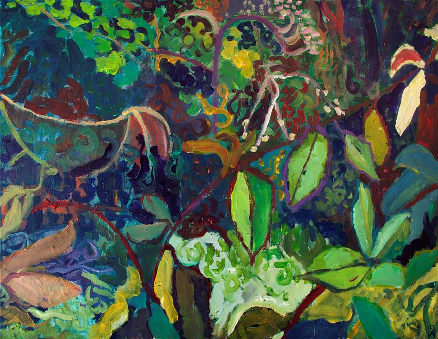 Original art for sale at UGallery.com | Verdure by Robert Hofherr | $2,225 | acrylic painting | 30' h x 40' w | ..\art\acrylic-painting-Verdure