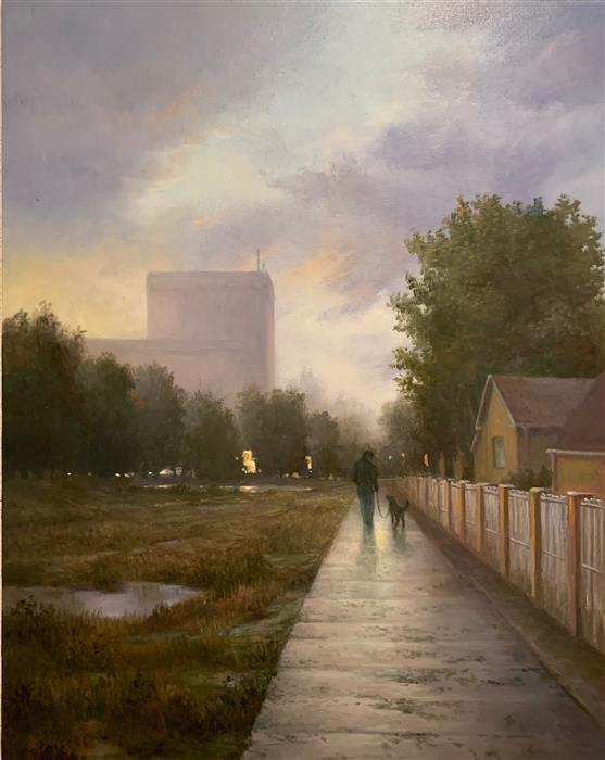 Original art for sale at UGallery.com | After Rain by Nikolay Rizhankov | $1,000 | oil painting | 20' h x 16' w | ..\art\oil-painting-After-Rain-68471