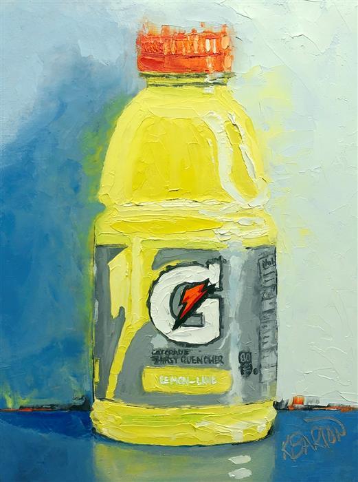 Original art for sale at UGallery.com | Lemon-Lime by Karen Barton | $325 | oil painting | 8' h x 6' w | ..\art\oil-painting-Lemon-Lime