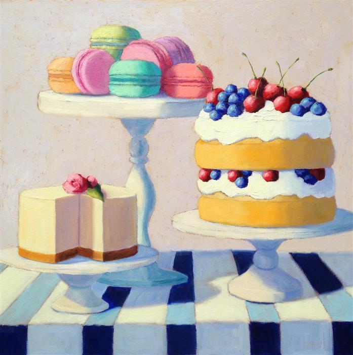 Original art for sale at UGallery.com | Sweet Favorites by Pat Doherty | $1,500 | oil painting | 24' h x 24' w | ..\art\oil-painting-Sweet-Favorites