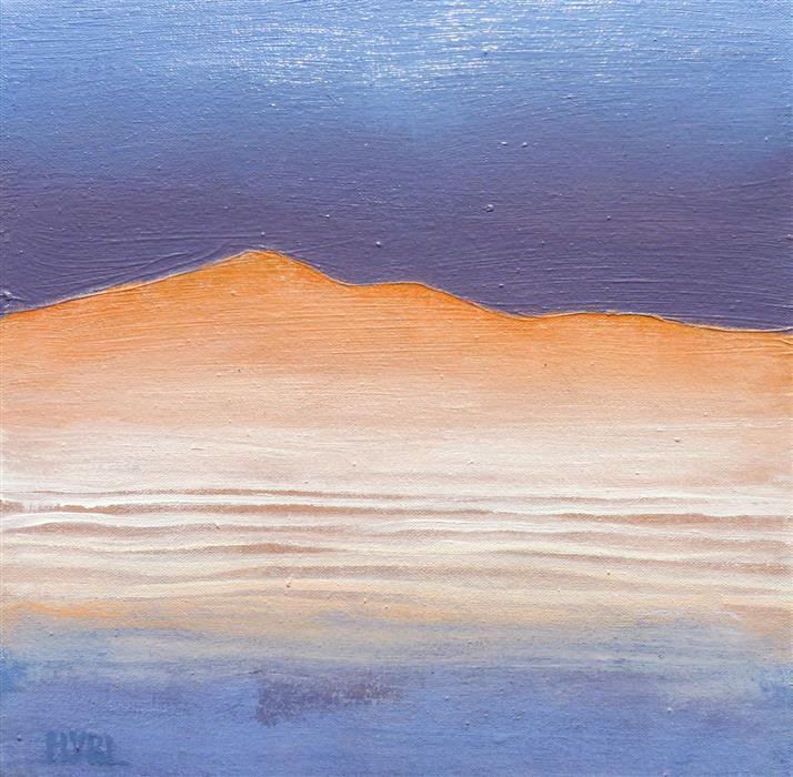 Original art for sale at UGallery.com | Warm Hill by Heidi Hybl | $450 | oil painting | 12' h x 12' w | ..\art\oil-painting-Warm-Hill