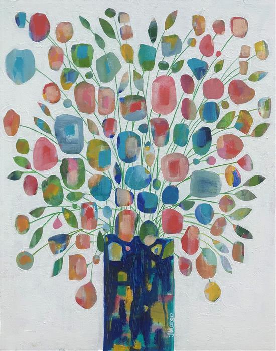 Original art for sale at UGallery.com | Bailando by Joyanna Margo | $1,325 | acrylic painting | 30' h x 24' w | ..\art\acrylic-painting-Bailando