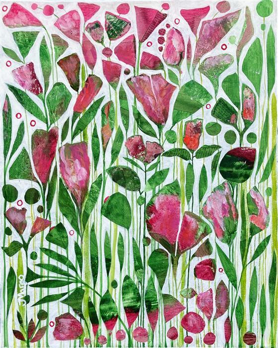 Original art for sale at UGallery.com   Fresh by Joyanna Margo   $525   mixed media artwork   20' h x 16' w   ..\art\mixed-media-artwork-Fresh