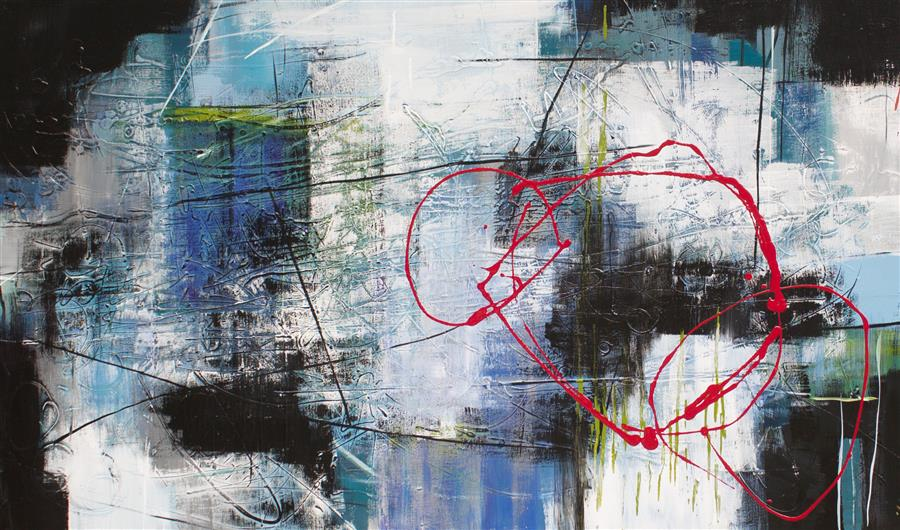 Original art for sale at UGallery.com | My Broken Heart by Jane Robinson | $3,200 | acrylic painting | 36' h x 60' w | ..\art\acrylic-painting-My-Broken-Heart