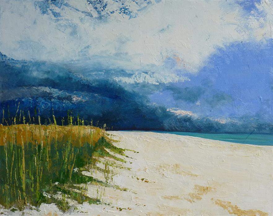 Original art for sale at UGallery.com | Squall Line by Judy Mackey | $1,075 | oil painting | 24' h x 30' w | ..\art\oil-painting-Squall-Line
