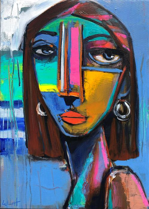 Original art for sale at UGallery.com | Katie from Kent by Allen Wittert | $2,650 | acrylic painting | 27.5' h x 19.85' w | ..\art\acrylic-painting-Katie-from-Kent