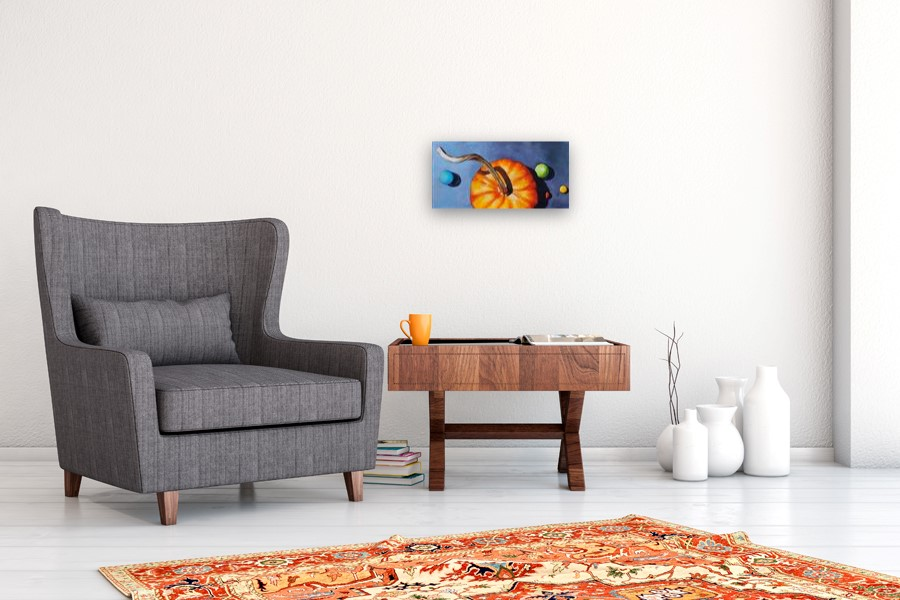 Artwork in virtual room