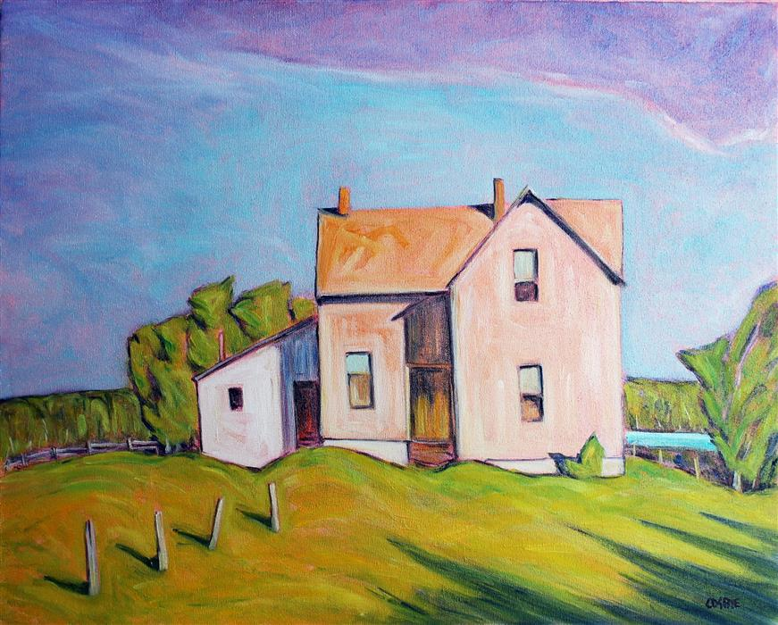 Original art for sale at UGallery.com | Ottawa Valley Farm by Doug Cosbie | $475 | oil painting | 16' h x 20' w | ..\art\oil-painting-Ottawa-Valley-Farm