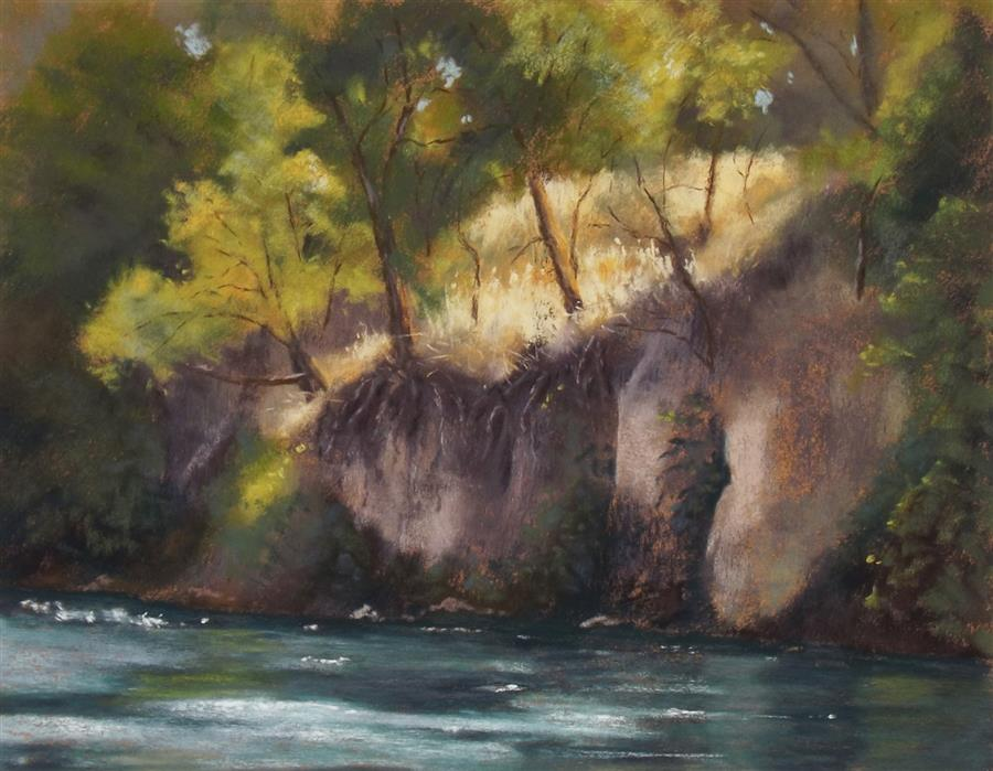 Original art for sale at UGallery.com | Hanging On by Patricia Prendergast | $475 | pastel artwork | 11' h x 14' w | ..\art\pastel-artwork-Hanging-On