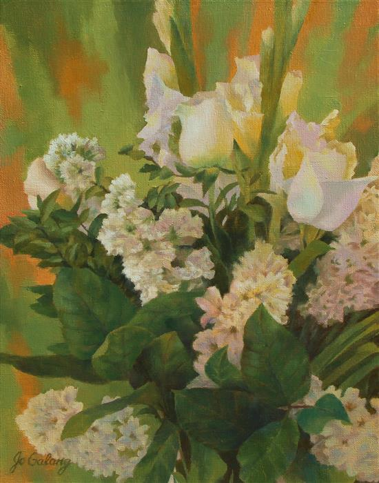 Original art for sale at UGallery.com | Mother's Day Bouquet by Jo Galang | $575 | oil painting | 14' h x 11' w | ..\art\oil-painting-Mother-s-Day-Bouquet